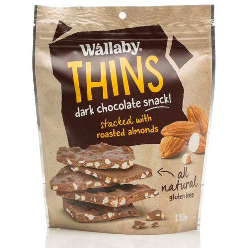Wallaby Thins Almond 130g x 8