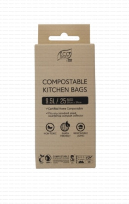 White Magic Eco Basics Compost KitchenBags 25x9.5L