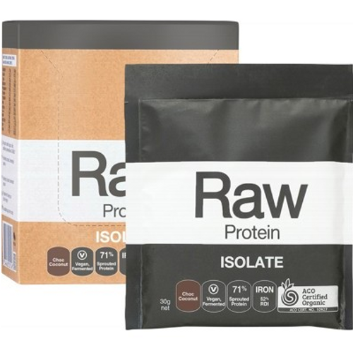 Amazonia Raw Protein Isolate Chocolate & Coconut 12x30g
