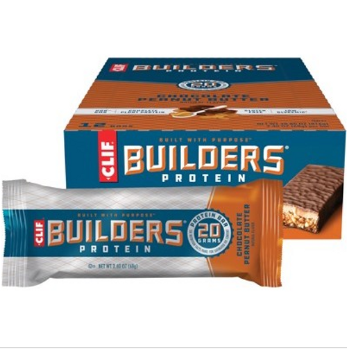 Clif Builders Bar Chocolate Peanut Butter 12x68g