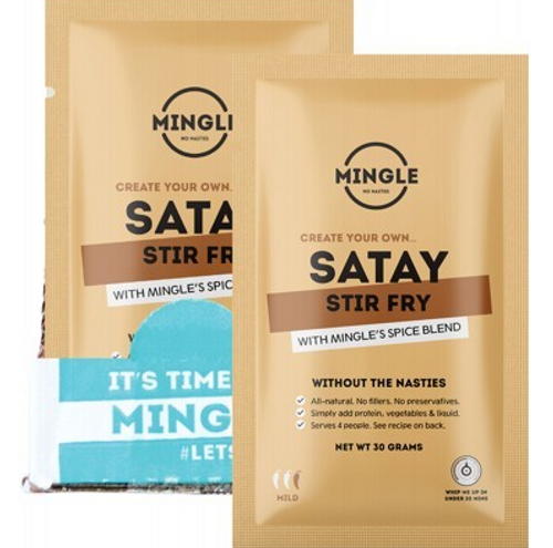 Mingle Natural Seasoning Blend Satay Stir Fry 12x30g