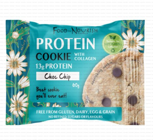 Food to Nourish Protein Cookie Chocolate Chip 60g x 12