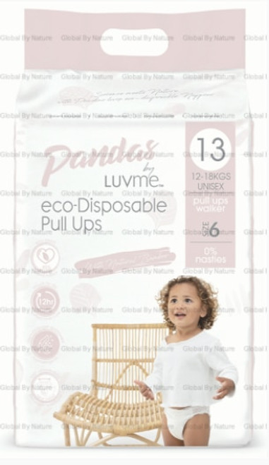 Pandas by Luvme ECO Displayosable Nappies PullUps (12 18kgs) 13 Packet x 4