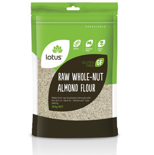 Lotus Almond Flour Raw Whole-nut 500g