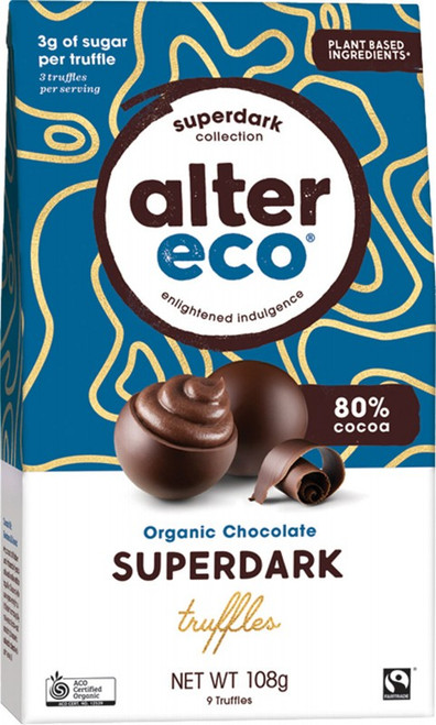 Alter Eco Chocolate (Organic) Superdark Cacao Truffles 108g