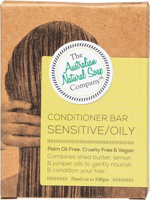 The Aust. Natural Soap Co Conditioner Bar Sensitive/Oily 100g