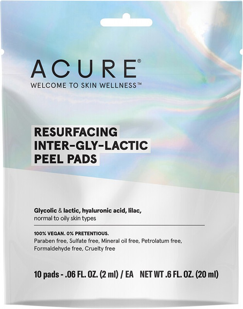 Acure Resurfacing Inter-Gly-Lactic Peel Pads 10 Pads