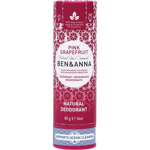 Ben & Anna Natural Soda Deodorant Stick Pink Grapefruit 60g