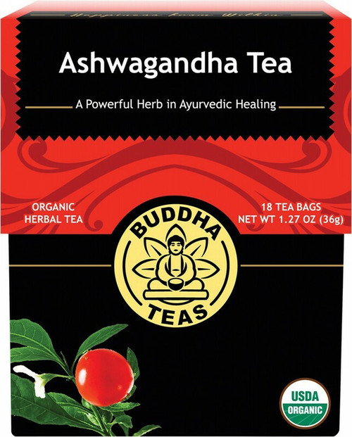 Buddha Teas Organic Herbal Tea Bags Ashwagandha Tea x18