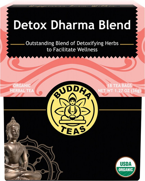 Buddha Teas Organic Herbal Tea Bags Detox Dharma Blend x18