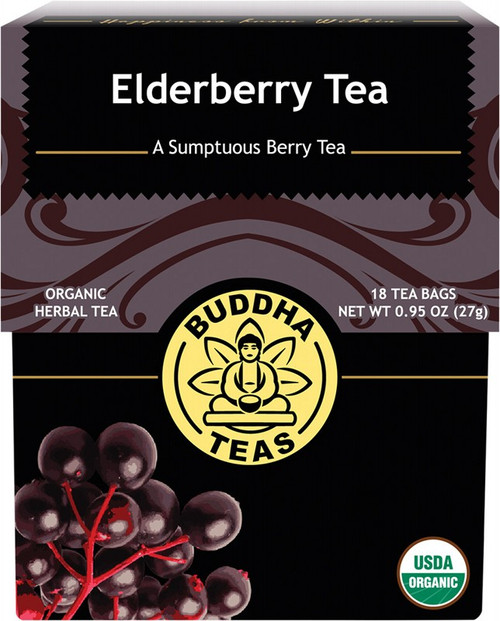Buddha Teas Organic Herbal Tea Bags Elderberry Tea x18