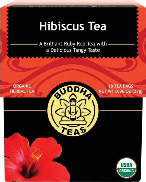 Buddha Teas Organic Herbal Tea Bags Hibiscus Tea x18