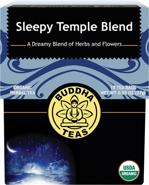 Buddha Teas Organic Herbal Tea Bags Sleepy Temple Blend x18