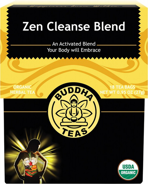 Buddha Teas Organic Herbal Tea Bags Zen Cleanse Blend x18