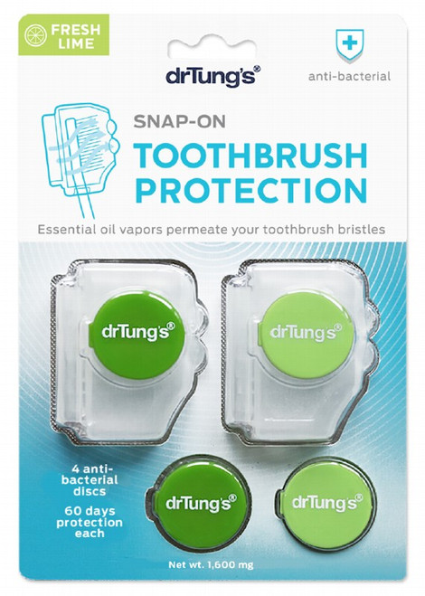 Dr Tung's Toothbrush Protection Includes 2 Refills x2