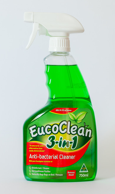 Eucoclean Anti bacterial Spray 3 in 1 With Pure Eucalyptus Essential Oil 750ml