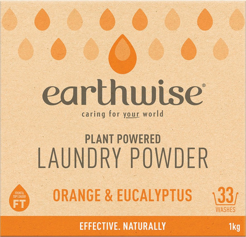 Earthwise Laundry Powder Orange & Eucalyptus 1kg