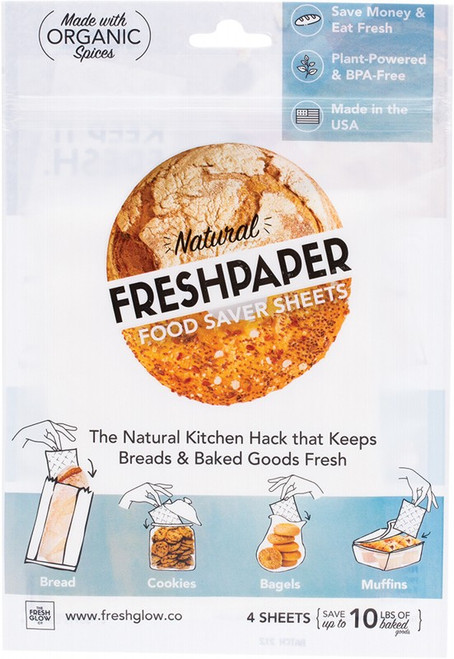 Freshpaper Natural Food Saver Sheets Bread & Baked Goods x4