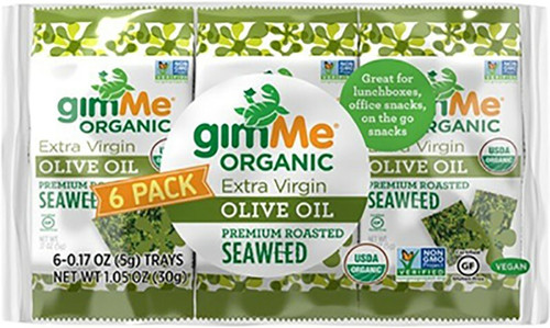 Gimme Roasted Seaweed Snacks Olive Oil - 6 Pack 6x5g