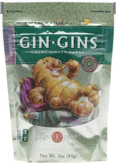 The Ginger People Gin Gins Ginger Candy Bag Chewy - Original 60g