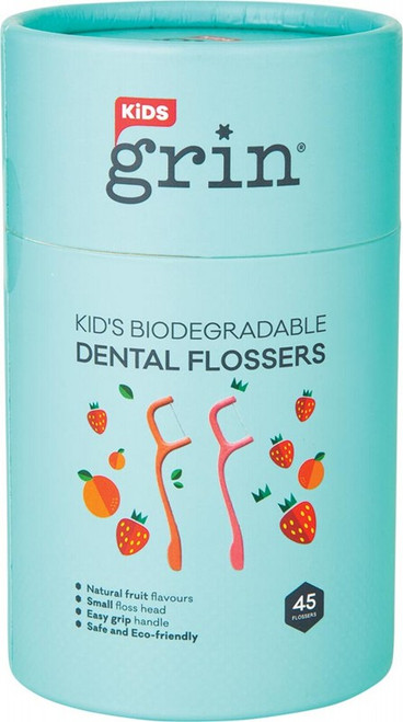 Grin Biodegradable Dental Flossers Kid's x45