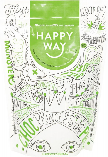 Happy Way Pea Protein Powder Chocolate 500g
