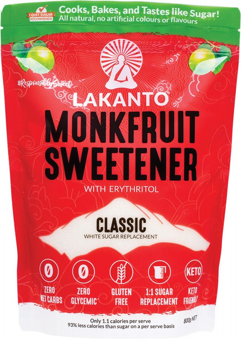Lakanto Classic - Monkfruit Sweetener White Sugar Replacement 800g