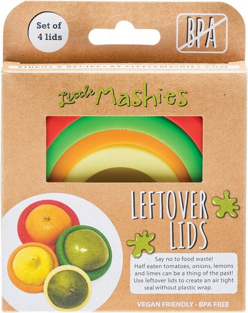 Little Mashies Reusable Leftover Lids Pack of 4 x4