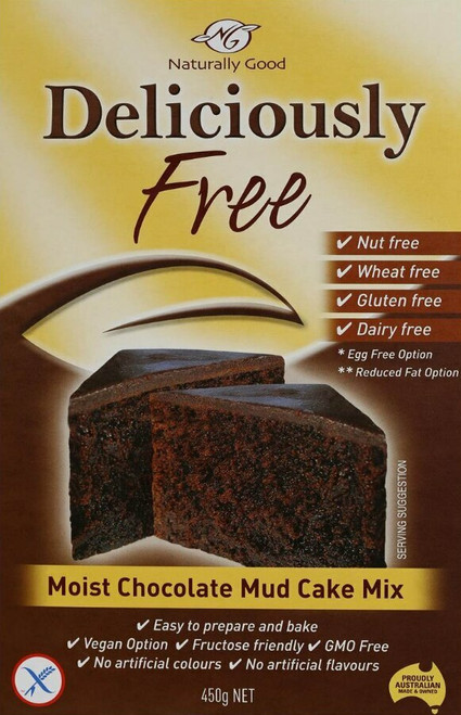 Naturally Good Mud Cake Mix Moist Chocolate 450g