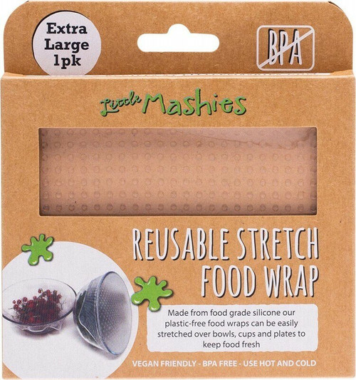 Little Mashies Reusable Stretch Silicone Food Wrap Extra Large 30cm x 30cm x1