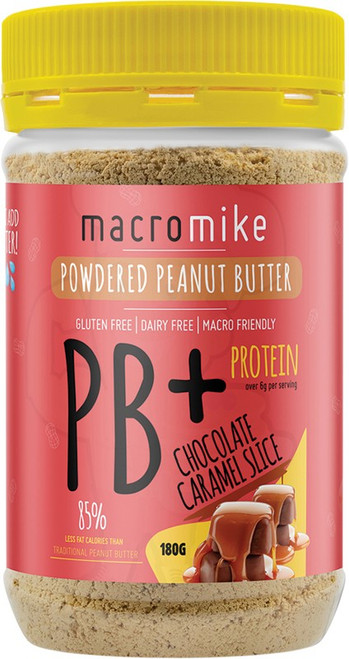 Macro Mike Powdered Peanut Butter Chocolate Caramel Slice 180g
