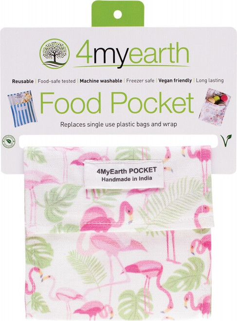 4MyEarth Food Pocket Flamingoes - 14x14cm x1