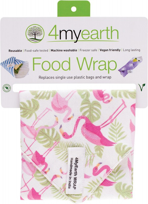 4MyEarth Food Wrap Flamingoes - 30x30cm x1