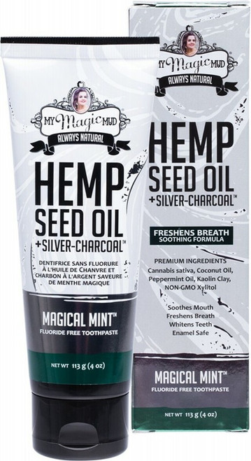 My Magic Mud Silver Charcoal Toothpaste With Hemp Seed Oil Magical Mint 113g