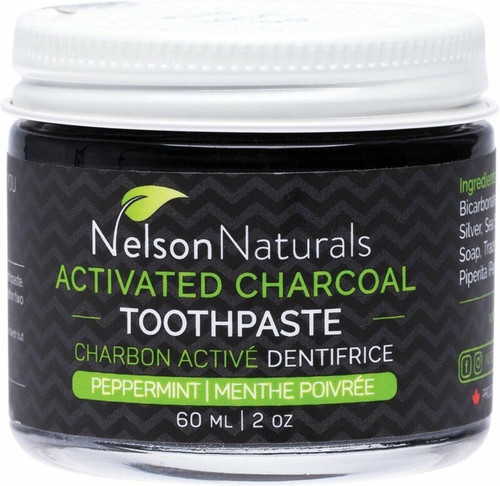 Nelson Naturals INC. Activated Charcoal Toothpaste Peppermint 60ml