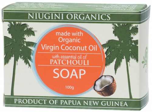 Niugini Organics Coconut Oil Soap Patchouli 100g