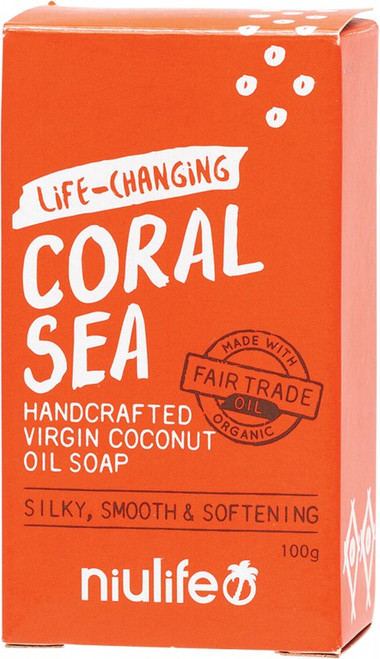 Nuilife Coconut Oil Soap Coral Sea 100g
