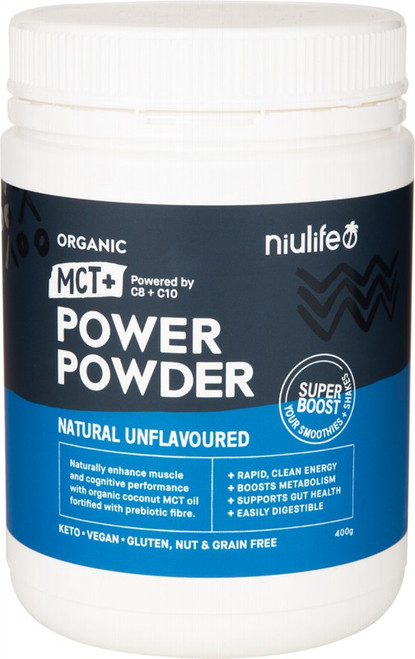 Nuilife Organic MCT+ Power Powder Natural Unflavoured 400g