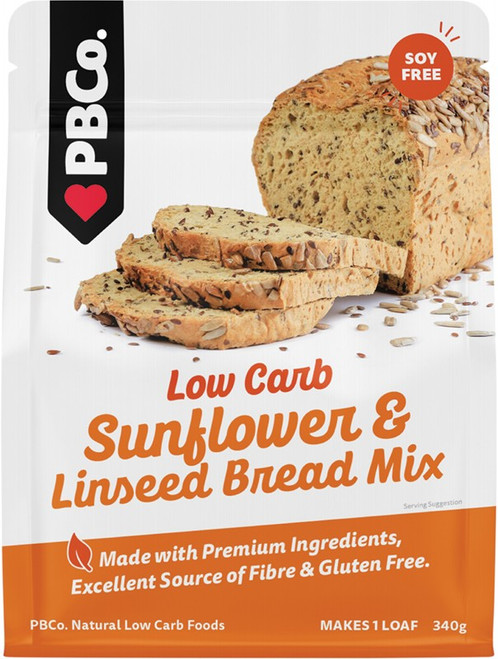 Pbco. Low Carb Sunflower & Linseed Bread Mix 340g