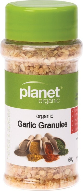 Planet Organic Spices Garlic Granules 60g
