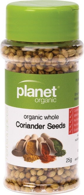 Planet Organic Spices Coriander Seed Whole 25g