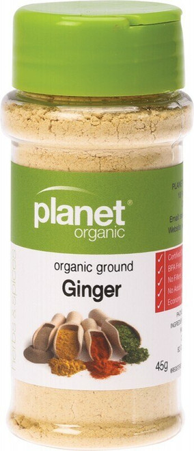 Planet Organic Spices Ginger 45g