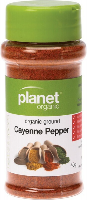 Planet Organic Spices Cayenne Pepper 40g