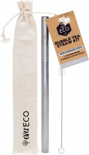 Ever Eco Bubble Tea Straw Kit - Straight Stainless Steel + Cleaning Brush x1