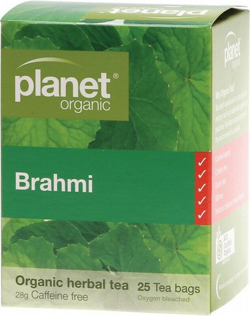 Planet Organic Herbal Tea Bags Brahmi x25