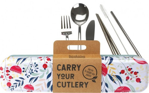 Retrokitchen Carry Your Cutlery Botanical Stainless Steel Cutlery Set x 1