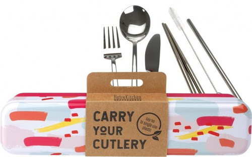 Retrokitchen Carry Your Cutlery Colour Splash Stainless Steel Cutlery Set x 1