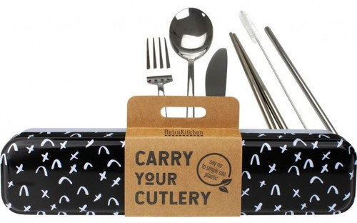 Retrokitchen Carry Your Cutlery Criss Cross Stainless Steel Cutlery Set x 1