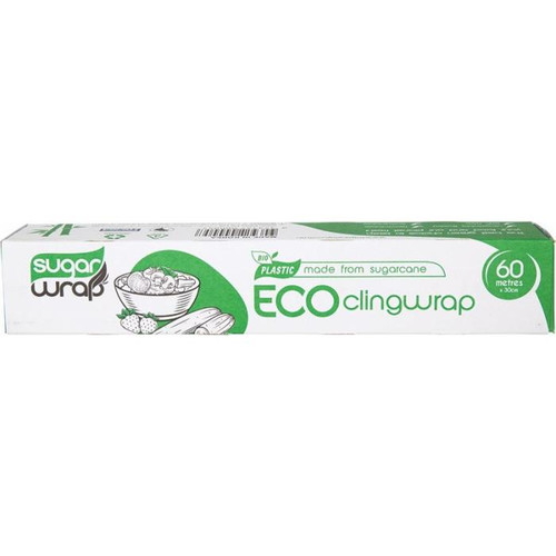 Sugarwrap Eco Clingwrap Made from Sugarcane - 60m x 30cm