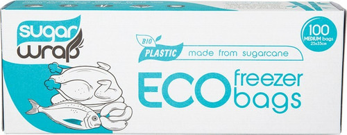 Sugarwrap Eco Freezer Bags Made from Sugarcane - Medium x100